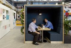 Standalone meeting pod with integrated seating, power, connectivity and lighting. Incredibly popular, use as a quiet focus area or to take the pressure off the board room. Factory prepared and delivered and assembled on site – these relocatable pods integrate with the rest of the Spacestor range and are available in a range of finishes and materials.