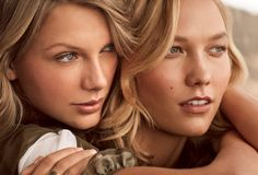 Karlie and Taylor Swift in beautiful blondes