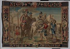 Francis Clein. The Seizure of Cassandra by Ajax from a set of The Horses, ca. 1650–70. The Metropolitan Museum of Art, New York. Gift of Christian A. Zabriskie, 1937 (37.85) #tapestrytuesday