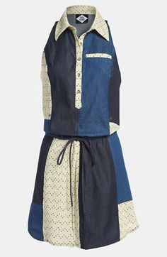 Viva Vena! 'Chinati' Patchwork Gauze & Chambray Dress available at #Nordstrom