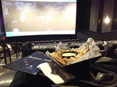 Leather recliners + food while watching a movie. The Big House theater is awesome. Even if you're not planning on eating, you should get dine it tickets. This place is way better than Alamo Drafthouse.