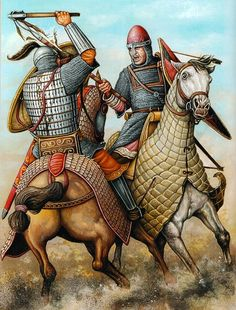 Norman vs Byzantine Knights, the fighters in the war between The Norman Hautevilles and the Emperor Alexios I looked liked these in 1081 - 1084 A.D. #Hauteville #Bohemund of Antioch #Alexios I Komnenos