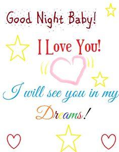 Good night Baby! I love you! I hope you had a pleasant weekend! Sweet dreams! ♥♥