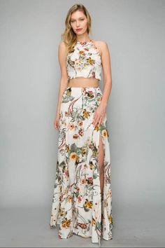 02c625650a AAKAA Halter Top Skirt-Set - Main Image Halter Crop Top