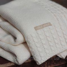 """Baby knitted bamboo blanket, Natures Purest - online store """"Clubby mummy"""" in Kiev Cable Knit Blankets, Knitted Baby Blankets, Baby Hats Knitting, Arm Knitting, Manta Crochet, Organic Baby Clothes, Baby Bedding, Crochet Home, Knitting Designs"""