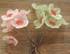 Sweet cherry blossom glass flowers