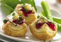 Brie and Cherry Pastry Cups Recipe | Flickr - Photo Sharing!