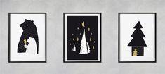 Lesní / série tří autorských plakátů A4