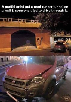 Humor Train - Funny Pictures<<<this is really bad, the person could've been hurt, but lol Memes Estúpidos, Funny Memes, Jokes, Funny Cute, The Funny, Road Runner, Just For Laughs, Funny Posts, Best Funny Pictures
