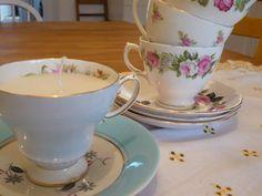 tea cup vintage | Vintage Tea Cup Candles – £6.99 | pea