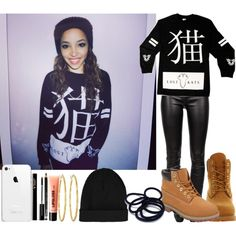 Lost Kats: Tinashe by goldenlife on Polyvore featuring Helmut Lang, Timberland, Brooks Brothers, Topshop, H&M and Rimmel