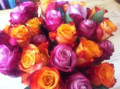 Pink and orange- birthday flowers:-) #uteschlegelflowers