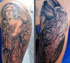 Vatican Statue by Federico Nicolaci #tattoo  #artskin #artskintattoo #federiconicolaci #artskinicolaci #statuetattoo
