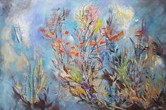 Aquatic III/ painting, acrylic on canvas