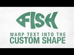 Warp Text Into the Custom Shape in Adobe Illustrator CC - YouTube