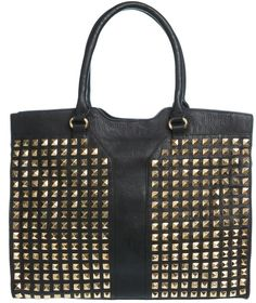 Studded YSL Bag Black/  / available at www.modemusthaves.com