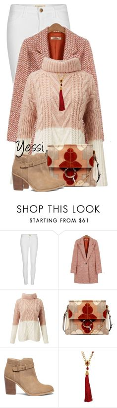 """""""~ 💕 Fall Sweater & Patchwork Bag 💕 ~"""" by pretty-fashion-designs ❤ liked on Polyvore featuring River Island, Miss Selfridge, Chloé, Sole Society and Oscar de la Renta"""
