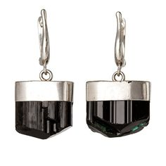 Black Tourmaline Asteroid Earrings by RockLove on Etsy, $115.00