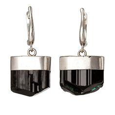 Black Tourmaline Asteroid Earrings by RockLove on Etsy, $115.00