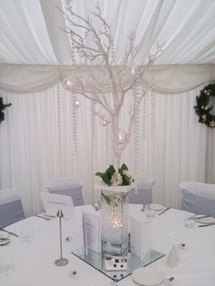 Crystal Tree Centrepiece for a Winter Wedding