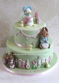 Beatrix Potter cake and Peter Rabbit tutorial - Cake by Zoe's Fancy Cakes rabbit cake beatrix potter Beatrix Potter cake and Peter Rabbit tutorial Deco Cupcake, Cupcake Cakes, Baby Cakes, Fondant Figures, Fondant Cakes, Fondant Cake Decorations, Easter Cake Fondant, Beatrix Potter Cake, Zoes Fancy Cakes