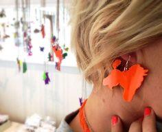 paula poodle earring