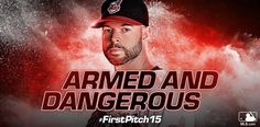 Cy Young under his belt, The Klubot is ready to go. #FirstPitch15 #OpeningDay @indiansbaseball