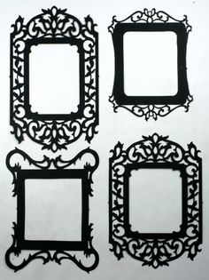 Vintage Fancy Frames - Silhouettes