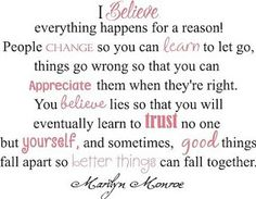 Marilyn Monroe is my idol!!! And I love this quote