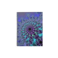 Customizable Peacock Fractal Notebook on sale at www.zazzle.com/wonderart* or click on the picture to take you directly to the product.