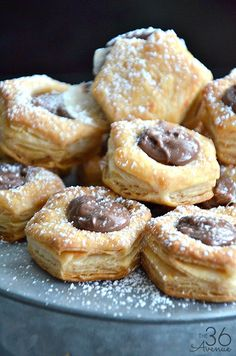 Chocolate Puff Bites - Three ingredient dessert that is ready in 15 minutes.