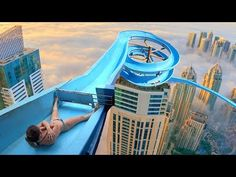 this water slide should not exist. Big Water Slides, Mitre Saw Station, Royal Guard, Around The Worlds, Tours, Japan, Vacation, Youtube, Water Parks
