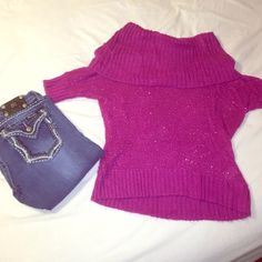 Pink Elle Cowl Neck Sweater Pink Elle Cowl Neck Sweater. Excellent condition, no snags, holes or tears. Perfect for winter weather. Can be dressed up or casual wear with a pair of jeans. All reasonable offers considered. Elle Sweaters Cowl & Turtlenecks