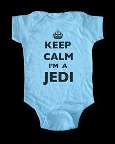 Keep Calm I'm A Jedi Baby Onesie infant bodysuit clothing (18 Months Onesie, Light Blue) by keepcalmstore, http://www.amazon.com/dp/B00CFWAIJE/ref=cm_sw_r_pi_dp_hO-Srb0S9H0TA