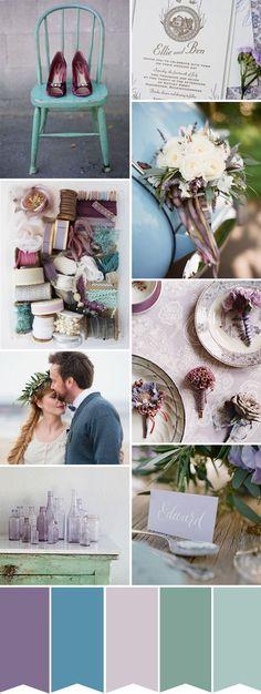 Farbcode, Colour Code, Hochzeit, lila und türkis