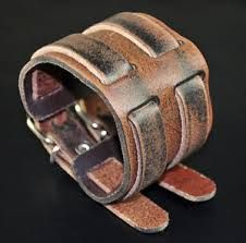 Image result for mens leather cuff
