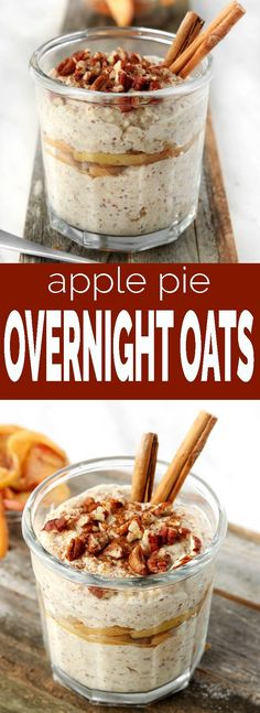 Apple Pie Overnight Oats make a fiber and protein rich breakfast. Cooked apples … Apple Pie Overnight Oats make a fiber and protein rich breakfast. Cooked apples and cinnamon add fall flavor while maple syrup adds natural sweetness. Dairy Free Overnight Oats, Overnight Oatmeal, Brunch Recipes, Breakfast Recipes, Drink Recipes, Mexican Breakfast, Breakfast Sandwiches, Breakfast Pizza, Breakfast Cookies