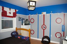 Simply Mish-elle: Kids hockey  Rooms(need to do this for my boys in baseball theme) -love the light