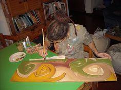 """Proceso de pintado """"Fiestas"""""""