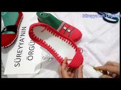 Keçe Tabanlı Tığ İşi Süslü Babet Yapılışı - YouTube