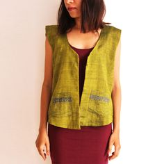 Green Reversible Cotton Vest