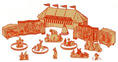 Circus Paper Model - Free Paper Toys and Models at PaperToys.com