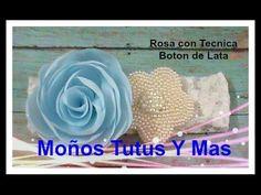 ROSA CON TECNICA BOTON DE LATA Paso a Paso MELTED FABRIC ROSE Tutorial DIY How To PAP - YouTube