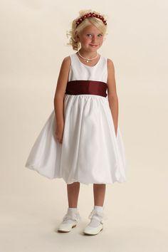 Sleeveless bridal satin dress with bubble style hemline,dress bridal quality and is made well and does not look like the cheap poly junk dresses that you see al. Dresses 2013, Satin Dresses, Bridal Dresses, Yellow Flower Girl Dresses, Holy Communion Dresses, Bubble Style, Dresses For Less, Satin Flowers, Dress First