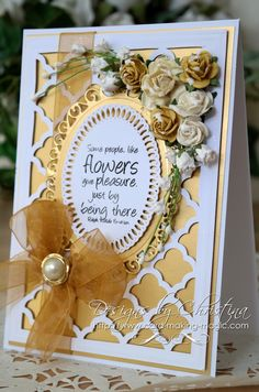 gold friendship card by Christina Griffiths
