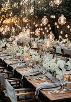 45 Ways To Dress Up Your Wedding Reception Tables – Wedding Decor Wedding Reception Lighting, Wedding Reception Table Decorations, Wedding Table Settings, Wedding Themes, Wedding Colors, Wedding Ceremony, Wedding Venues, Table Set Up Wedding, Rustic Table Settings