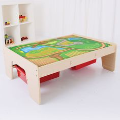 Childrens Train Play Table with Drawers by Big Jigs Toys BJT041
