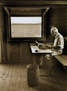 EB White at his writing desk.  Photo:  Jill Krementz