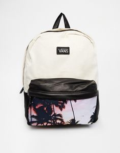 Enlarge Vans Deana Backpack with Palm Tree Photo Print