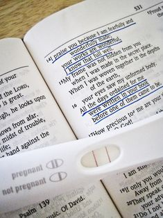 Pregnancy Announcement with Bible Verse